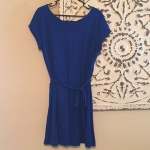Merona Blue Tue Waist Dress